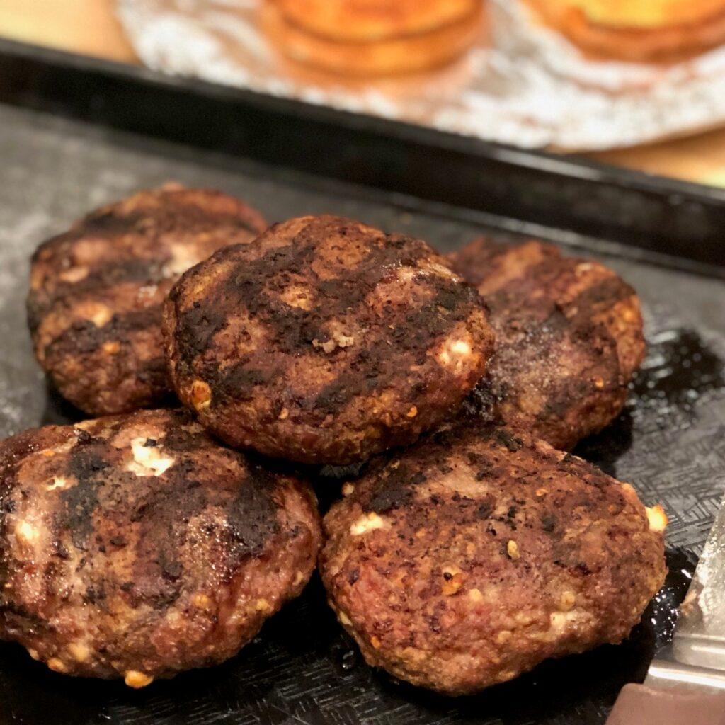 Gyro Inspired Lamb Burgers